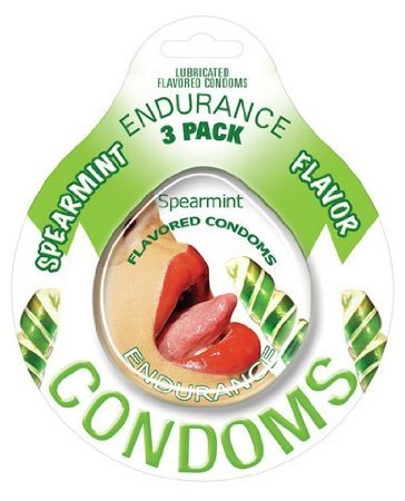 Endurance flavored condom spearmint, 3 pack (Pack Of 4) by Sh-yolada