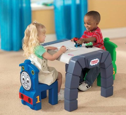 Amazon.com Little Tikes Thomas u0026 Friends Table u0026 Chairs Set Toys u0026 Games & Amazon.com: Little Tikes Thomas u0026 Friends Table u0026 Chairs Set: Toys ...