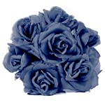 Artificial-Flowers-50-Pcs-Bulk-Blue-Fabric-Silk-Rose-Picks-with-Flexible-8-Stems-Fake-Flowers-Perfect-for-Wedding-Decorations-Table-Centerpieces-DIY-Projects