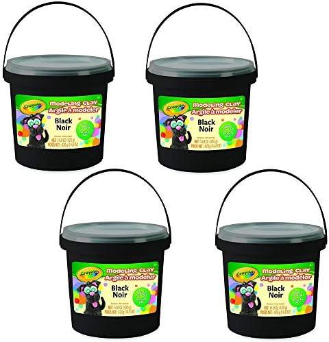 Crayola 1 lb Bucket Black Modeling Clay Net 14.8 oz 4 Pack