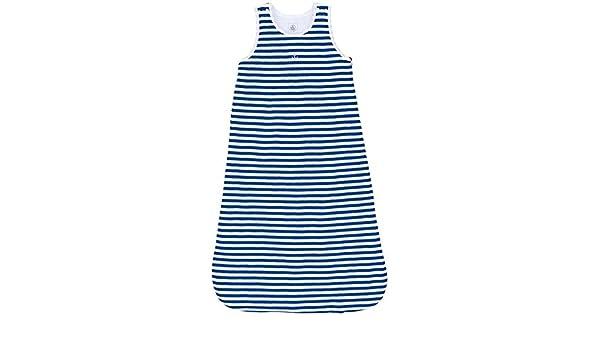 Petit Bateau-Saco de dormir para bebé, color azul marino y blanco: Amazon.es: Bebé