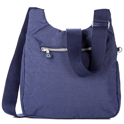 Dark Handbag Crinkle Noble Nylon Blue ��Vagabond�� Mount Crossbody 4Hq1Y