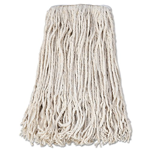 Mop Head Cotton 4 Ply - Boardwalk CM02024S Mop Head, Cotton, Cut-End, White, 4-Ply, 24 Band (Case of 12)