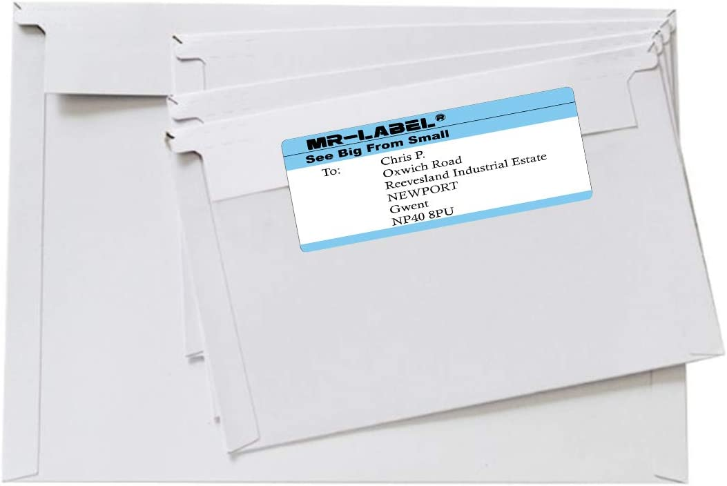 MR-Label White Lever Arch File Labels 40 Labels for Ring Binders 200 x 60 mm Folders Self-Adhesive Stickers for Inkjet /& Laser Printer
