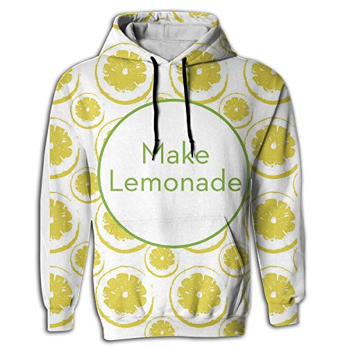 Cooly9a Make Lemonade Men Funny Fashion Pullover Hooded Sweatshirt Replenisher Lemonade