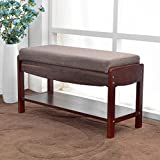 NATURALFOREST Wooden Shoe Rack For Closet, Dark Brown Solid Wood Shoe Rack Organizer, Entryway Storage Bench (dark brown) (dark brown)