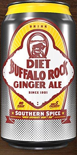 Buffalo Rock Diet Ginger Ale - 12 oz cans - 12 pack - Rock Diet
