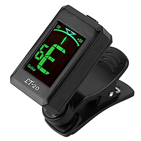 Guitar Tuner,Getaria LT-32 Clip-on Guitar Digital Tuner for Beginner Professional with LCD Screen Acoustic Electric Bass Chromatic Violin (Professional Guitar Tuner)
