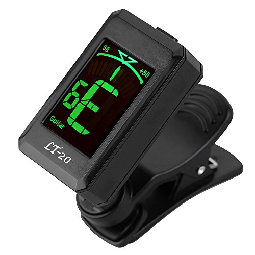 Guitar Tuner,Getaria LT-32 Clip-on Guitar Digital Tuner for Beginner Professional with LCD Screen Acoustic Electric Bass Chromatic Violin Ukulele