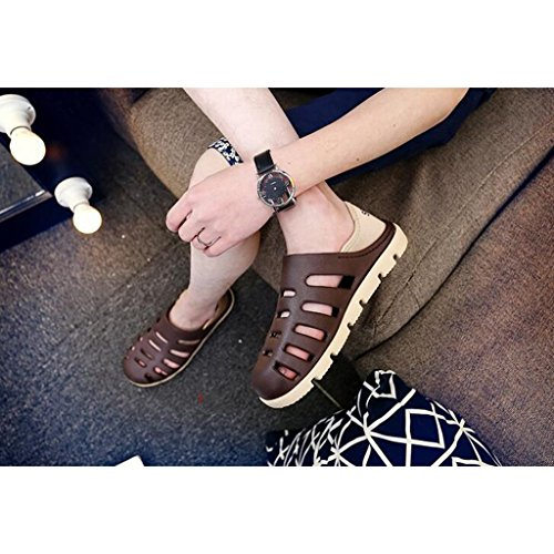 da Half KAI Sandali Slippers Estivi Brown Uomo Fashion Teen Shoes Casual LE Sandali Beach LE 7BwwqXa