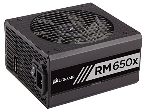 CORSAIR RMX Series (2018), RM650x, 650 Watt, 80+ Gold Certified, Fully Modular Power Supply