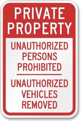 Amazon.com: Propiedad Privada personas no autorizadas ...