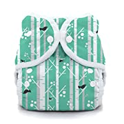 Thirsties Reusable Cloth Diaper Cover, Snap Closure, Aspen Grove Size One (6-18 lbs)