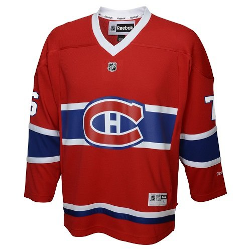 Montreal Canadiens Hockey Jersey (OuterStuff LNH Montreal Canadiens Boys Team Replica Player Jersey, Small/Medium, Red)