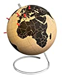 Suck UK Large Cork Globe-Pinpoint Your Travels, Adventures and Memories, Brown/Black