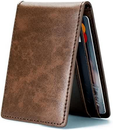 Ultra Slim Mini Size Wallet ID Window Card Case with RFID Blocking