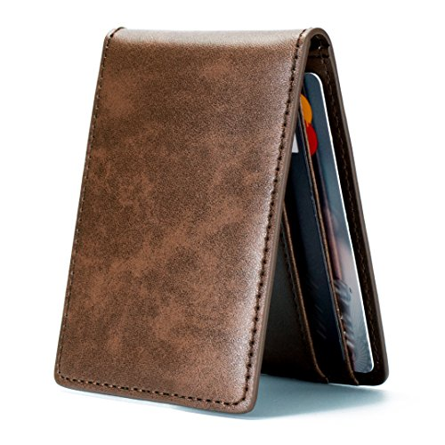 Ultra Slim Mini Size Wallet Id Window Card Case With Rfid