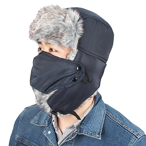 f36a66dcd32c63 6 · KRATARC Trapper Hat Hunting Winter Ski Windproof Hat with Ear Flaps and  Warm Mask for Men