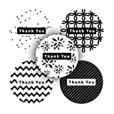 AKSHAYA Assorted Round Thank you stickers roll