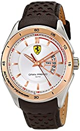 Ferrari Men\'s 0830184 Gran Premio Analog Display Quartz Brown Watch