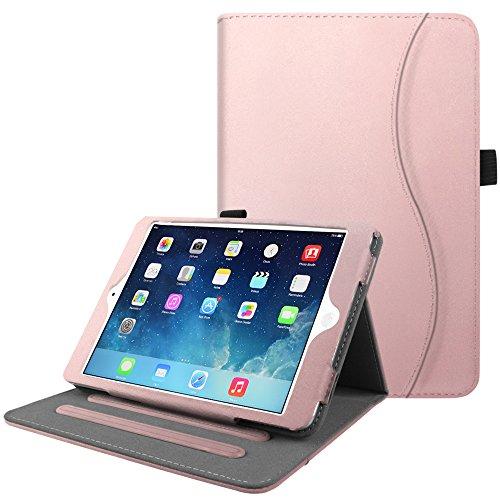 Fintie iPad Mini / Mini 2 / Mini 3 Case [Corner Protection] - [Multi-Angle Viewing] Folio Stand Smart Cover with Pocket, Auto Sleep / Wake for Apple iPad Mini 1 / Mini 2 / Mini 3, Rose Gold