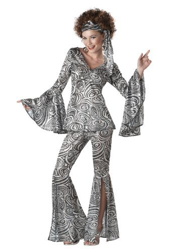 California Costumes Foxy Lady Set, Black/Silver, Large - http://coolthings.us