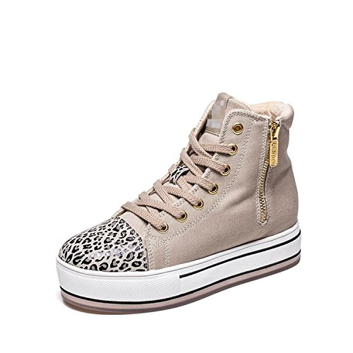 Platform High Top Plush Beige Sneakers Superstar Fashion Print Short Perfues Casual Women Shoes YIRHRq