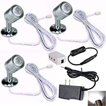 Xking 12V 1W LED Spotlight / Cabinet Light / Jewelry Lamp / Ceiling Light / Display Cabinet Light /museum/Wall Light - White 6000K (Set of 3)