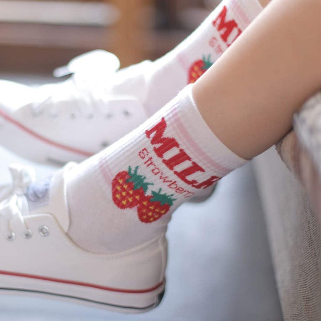 Kawaii Sweet Girls Socks Funny Cute Cream Candy Color Milk Strawberry Socks