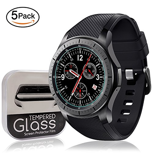 [5-Pack]Samsung Gear S3 Screen Protector Anti-scratch Bubble-free Ultra-thin HD-clear Easy Installation Smart Watch Tempered Glass Film Accessories by SYOSIN