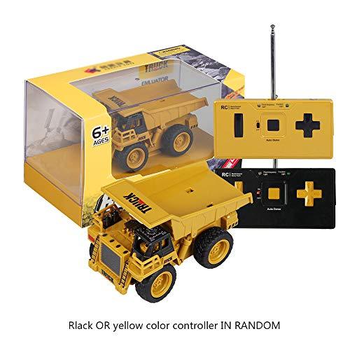 YRE Mini vehículo de ingeniería de Control Remoto, Exquisito Modelo de 4 vías Push-Suelo camión Carretilla elevadora...