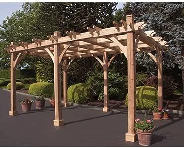 Al aire libre vida hoy Breeze Western cedro rojo 12 & # 39; X 16 y # 39; Pergola: Amazon.es: Jardín