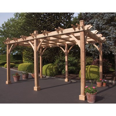 Western Red Cedar Arbor - Outdoor Living Today Breeze Western Red Cedar 12' x 16' Pergola