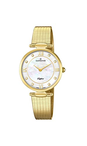 Candino Reloj Análogo clásico para Mujer de Cuarzo con Correa en Acero Inoxidable C4667/1: Amazon.es: Relojes