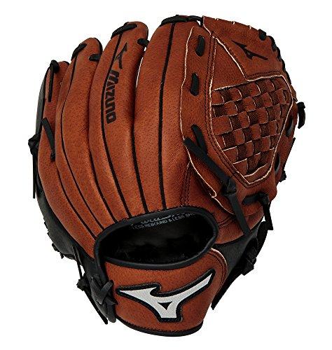 Mizuno Prospect Baseball Glove, Peanut/Black, Youth/Kids, 10.5'', Worn on Right Hand by Mizuno