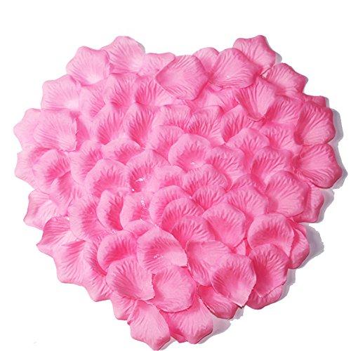 2000pcs Pink Rose Petals White Rose Wedding Bouquets Fake Rose Petals Dried (White Pink Petal)