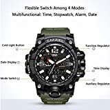 Mens Military Analog Digital Watch Display Sports Watches Multifunctional Large Wrist Watches for Men