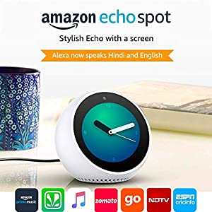 Echo Spot – Smart Alarm Clock with Alexa - White
