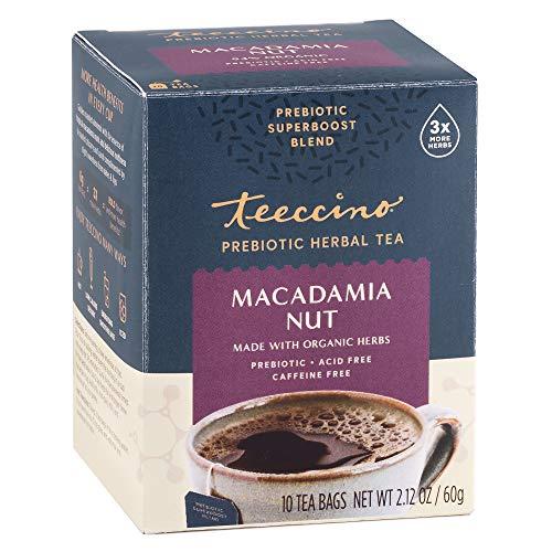Teeccino Prebiotic SuperBoost Herbal Tea – Macadamia Nut – Support Your Probiotics with Vegan GOS & Organic XOS For Good…