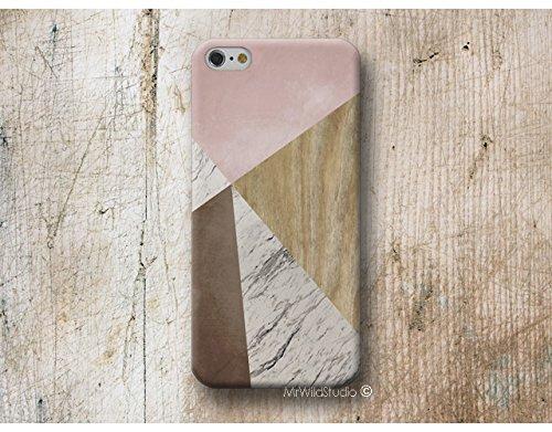 Rose Marbre bois Print Coque Étui Phone Case pour iPhone X XR XS ...