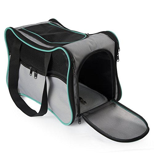 Pawdle Foldable Bone Shaped Pet Carrier Domestic Airline Approved (Grey)