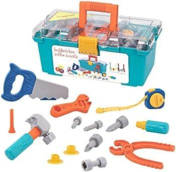 Battat Builders Box Contractor 15-Pcs. Toy Playset