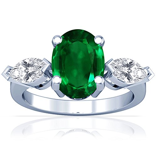 Platinum-Oval-Cut-Emerald-Three-Stone-Ring-GIA-Certificate