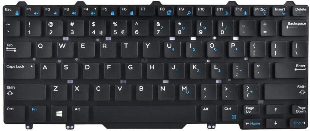 AUTENS Replacement US Keyboard for Dell Latitude E5450 E5470 E7450 E7470 7480 7490 5480 5488 3340 3350 Laptop No Frame, No Pointer, No Backlight