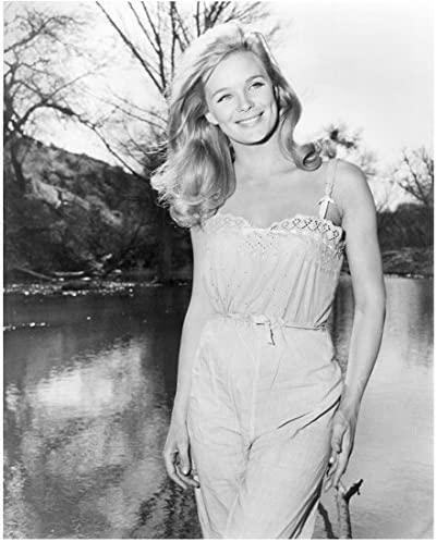 Linda Evans Outside by Water with Big Smile and Long Hair 8 x 10 inch photo  at Amazon's Entertainment Collectibles Store