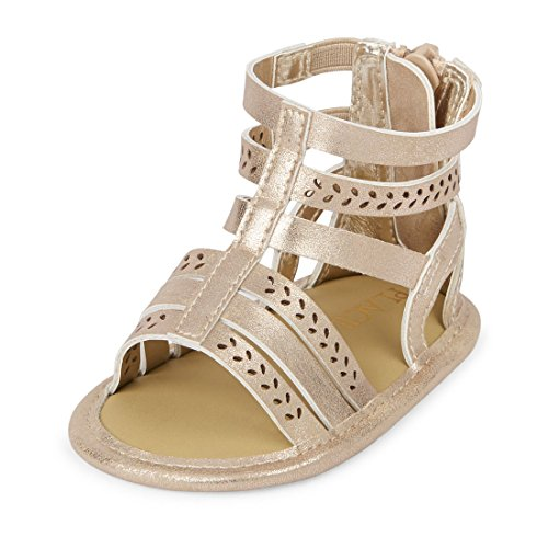 The Children's Place Girls' Nbg Gladiator Sandal, Gold, 6-12MONTHS Months US Infant by The Children's Place (Image #1)