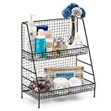 Kyпить 2-Tier Organizer Rack, EZOWare Wire Basket Storage Container Countertop Shelf for Kitchenware Bathroom Cans Foods Spice Office and more - Black на Amazon.com