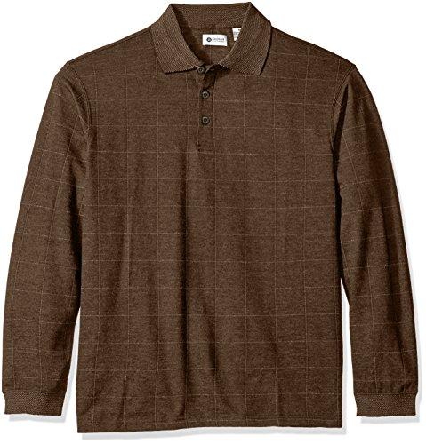 Haggar Long Sleeve Brushed Back Windowpane Shirt