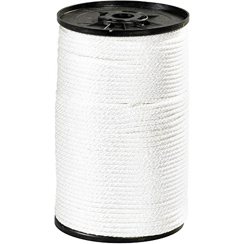Boxes Fast Solid Braided Nylon Rope, 1/4, 1,150 lb, White, (1 Roll of 500') by Boxes Fast