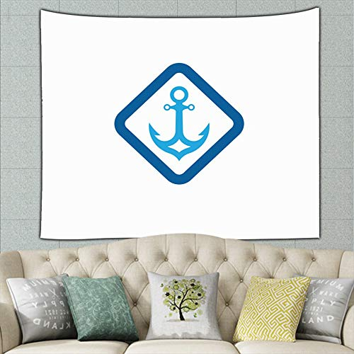 zuo chunhong5 Anchor icon Signs Symbols Tapestry Bohemian Tapestry Hippie Tapestry Bedroom Living Room Dorm Art Wall Hanging 50ʺ × 60ʺ